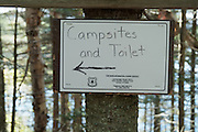 Unknown Pond campsites in Kilkenny, New Hampshire USA