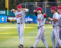 STANFORD, CA - JUNE 7: Grant Burton, Austin Kretzschmar during a game between UC Irvine and Stanford Baseball at Sunken Diamond on June 7, 2021 in Stanford, California.
