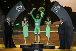 Peter Sagan (SVK) Bora-Hansgrohe wins the points Green Jersey for a record 7th time on the final podium at the end of Stage 21 of the 2019 Tour de France running 128km from Rambouillet to Paris Champs-Elysees, France. 28th July 2019.<br /> Picture: ASO/Thomas Maheux   Cyclefile<br /> All photos usage must carry mandatory copyright credit (© Cyclefile   ASO/Thomas Maheux)