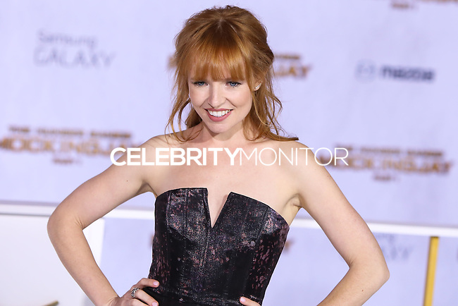 LOS ANGELES, CA, USA - NOVEMBER 17: Stef Dawson arrives at the Los Angeles Premiere Of Lionsgate's 'The Hunger Games: Mockingjay, Part 1' held at Nokia Theatre L.A. Live on November 17, 2014 in Los Angeles, California, United States. (Photo by Xavier Collin/Celebrity Monitor)