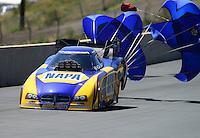 Jul, 22, 2012; Morrison, CO, USA: NHRA funny car driver Ron Capps during the Mile High Nationals at Bandimere Speedway. Mandatory Credit: Mark J. Rebilas-