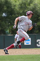 31 May 2008: Stanford Cardinal Cord Phelps during Stanford's 5-1 win against the Arkansas Razorbacks in game 3 of the NCAA Stanford Regional at Sunken Diamond in Stanford, CA.