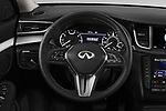 Car pictures of steering wheel view of a 2019 Infiniti QX50 LUXE AWD 5 Door SUV