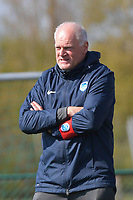 head coach Guido Brepoels of KRC Genk pictured during a female soccer game between SV Zulte - Waregem and KRC Genk Ladies on the 2nd matchday in play off 2 of the 2020 - 2021 season of Belgian Scooore Womens Super League , saturday 17 th of April 2021  in Zulte , Belgium . PHOTO SPORTPIX.BE | SPP | DIRK VUYLSTEKE