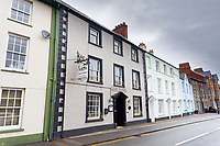 """Pictured: The Beacons Guesthouse owned by Neal and Francesca Gardner in Brecon, Wales, UK. Thursday 13 May 2021<br /> Re: Neal Gardner, 36, who is being evicted from his 17th Century country guesthouse in Brecon, Mid Wales, after """"strangling"""" his wife Francesca Gardner. He was convicted of assault and given a five-year restraining by Magistrates Court in Merthyr Tydfil, Wales, UK."""