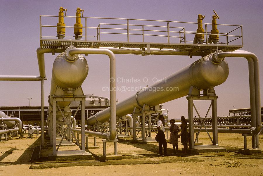 Kuwait October 1966.  Kuwait Oil Company Gathering Station, near Ahmadi.