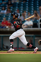 Birmingham Barons Luis Alexander Basabe (3) at bat during a Southern League game against the Chattanooga Lookouts on July 24, 2019 at Regions Field in Birmingham, Alabama.  Chattanooga defeated Birmingham 9-1.  (Mike Janes/Four Seam Images)