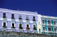 Puerto Rico, San Juan, Old city wall (La Muralla)