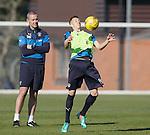 David Weir has a close look at u20 captain Ross McCrorie