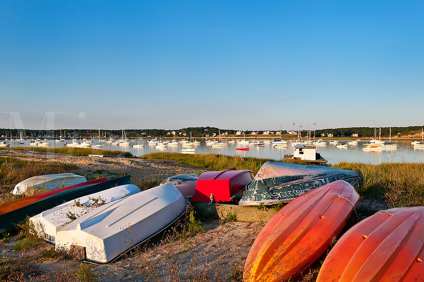 Boats, Wellfleet, Cape Cod, MA, Massachusetts, USA