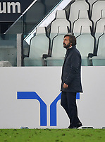 Calcio, Serie A: Juventus - Hellas Verona, Turin, Allianz Stadium, October 25, 2020.<br /> Juventus' coach Andrea Pirlo during the Italian Serie A football match between Juventus and Hellas Verona at the Allianz stadium in Turin, October 25,,2020.<br /> UPDATE IMAGES PRESS/Isabella Bonotto
