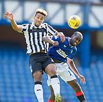 Rangers v St Mirren:  St Mirren's Isak Thorvaldsson challenges Glen Kamara of Rangers