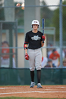 Drew Graham (3) during the WWBA World Championship at Terry Park on October 7, 2020 in Fort Myers, Florida.  Drew Graham, a resident of Avon Lake, Ohio who attends Avon Lake High School.  (Mike Janes/Four Seam Images)
