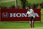 CHON BURI, THAILAND - FEBRUARY 17:  Brittany Lang of USA plays her second shot on the 16th hole during day one of the LPGA Thailand at Siam Country Club on February 17, 2011 in Chon Buri, Thailand. Photo by Victor Fraile / The Power of Sport Images