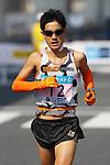 Feb. 27, 2011 - Tokyo, Japan - Arata Fujiwara of Japan powers his way to finish line at the Tokyo Marathon. (Photo by Daiju Kitamura/AFLO SPORT)