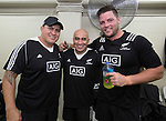 Carl Hoeft, Wally Rifle and Josh Hohneck. Maori All Blacks vs. Fiji. Suva. MAB's won 27-26. July 11, 2015. Photo: Marc Weakley