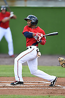Potomac Nationals second baseman Khayyan Norfork (15) during a game against the Lynchburg Hillcats on April 26, 2014 at Pfitzner Stadium in Woodbridge, Virginia.  Potomac defeated Lynchburg 6-2.  (Mike Janes/Four Seam Images)