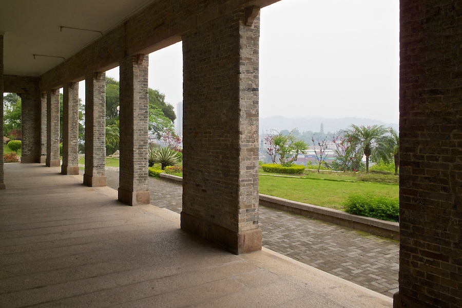 Vice-Consul's Office & Residence, Pagoda Island, Fuzhou (Foochow).  The Pagoda Itself Being Just Visible In The Distance.