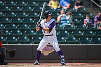 Danny Mendick (17) of the Winston-Salem Dash at bat against the Buies Creek Astros at BB&T Ballpark on April 16, 2017 in Winston-Salem, North Carolina.  The Dash defeated the Astros 6-2.  (Brian Westerholt/Four Seam Images)