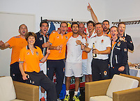 14-sept.-2013,Netherlands, Groningen,  Martini Plaza, Tennis, DavisCup Netherlands-Austria, Doubles,   The winning team<br /> Photo: Henk Koster