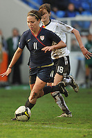 Lauren Cheney dribbles to goal in the Algarve Cup Final vs Germany in Faro, Portugal on March 3, 2010. USA won 3-2.