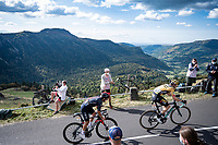 2 former Giro winners climbing together: Tom Dumoulin (NED/Jumbo-Visma) & Richard Carapaz (ECU/Ineos Grenadiers) up the Puy Mary (uphill finish)<br /> <br /> Stage 13 from Châtel-Guyon to Pas de Peyrol (Le Puy Mary) (192km)<br /> <br /> 107th Tour de France 2020 (2.UWT)<br /> (the 'postponed edition' held in september)<br /> <br /> ©kramon