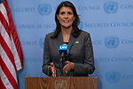 Security Council President Nikki R. Haley, Permanent Representative of the United States to the UN and President of the Security Council for the month of September, Briefs Press on Maintenance of international peace and security , Corruption and conflict