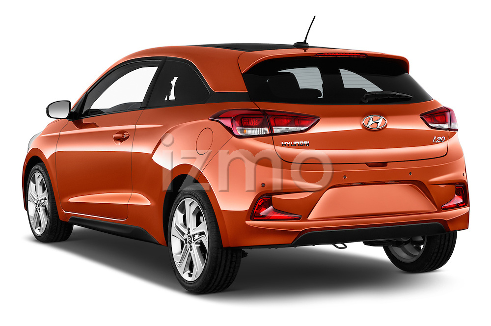 Car pictures of rear three quarter view of 2015 Hyundai I20 Sport 3 Door Hatchback Angular Rear