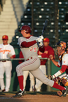 Stephen Piscotty of the Stanford Cardinal bats against the USC Trojans at Dedeaux Field in Los Angeles,California on April 8, 2011. Photo by Larry Goren/Four Seam Images