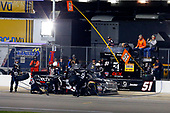 NASCAR Camping World Truck Series<br /> Toyota Tundra 250<br /> Kansas Speedway, Kansas City, KS USA<br /> Friday 12 May 2017<br /> Kyle Busch, Cessna Toyota Tundra pit stop<br /> World Copyright: Russell LaBounty<br /> LAT Images<br /> ref: Digital Image 17KAN1rl_5622