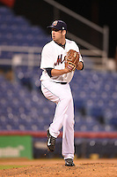Binghamton Mets pitcher Adam Kolarek (22) delivers a pitch during a game against the Bowie Baysox on August 3, 2014 at NYSEG Stadium in Binghamton, New York.  Bowie defeated Binghamton 8-2.  (Mike Janes/Four Seam Images)