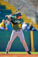 19 April 2009: University of Vermont Catamounts' shortstop Matt Duffy, a Sophomore from Milton, MA, at bat in the first inning against the University at Albany Great Danes at Historic Centennial Field in Burlington, Vermont. The Great Danes defeated the Catamounts 9-4 in the second game of a double-header. Sadly, the Catamounts are playing their last season of baseball, as the program has been marked for elimination due to budgetary constraints on the University. Mandatory Photo Credit: Ed Wolfstein Photo