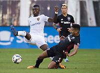 Washington, DC - August 12, 2017: D.C. United played Real Salt Lake during a Major League Soccer (MLS) match at RFK Stadium.
