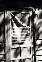 Sunlight on screen door<br />