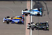 Verizon IndyCar Series<br /> Indianapolis 500 Race<br /> Indianapolis Motor Speedway, Indianapolis, IN USA<br /> Sunday 28 May 2017<br /> Alexander Rossi, Andretti Herta Autosport with Curb-Agajanian Honda, Juan Pablo Montoya, Team Penske Chevrolet and Marco Andretti, Andretti Autosport with Yarrow Honda<br /> World Copyright: Russell LaBounty<br /> LAT Images