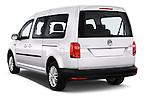 Car pictures of rear three quarter view of 2015 Volkswagen Caddy Maxi Dark & Cool 5 Door Mini Mpv Angular Rear