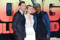 "Tom Hiddlestone, Brie Larson and Samuel L Jackson<br /> arrives for the ""Kong: Skull Island"" premiere, Empire Leicester Square, London.<br /> <br /> <br /> ©Ash Knotek  D3235  28/02/2017"