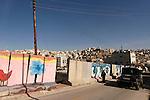Judea, Hebron Mountain. The road to Tel Rumeida in Hebron