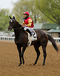April 17, 2021: #2 Say the Word and jockey Luis Saez win the Elkhorn Grade 2 $200,000 for owner Agave Racing and Sam-Son Farm and trainer Philip D'Amato at Keeneland Racecourse in Lexington, KY on April 17, 2021.  Candice Chavez/ESW/CSM