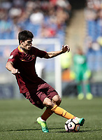 Calcio, Serie A: Roma, stadio Olimpico, 14 aprile 2017.<br /> Roma's Diego Perotti in action during the Italian Serie A football match between Roma and Atalanta at Rome's Olympic stadium, April 14, 2017.<br /> UPDATE IMAGES PRESS/Isabella Bonotto