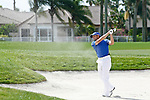 PALM BEACH GARDENS, FL. - Sergio Garcia hits from a fairway bunker during Round Two play at the 2009 Honda Classic - PGA National Resort and Spa in Palm Beach Gardens, FL. on March 6, 2009.