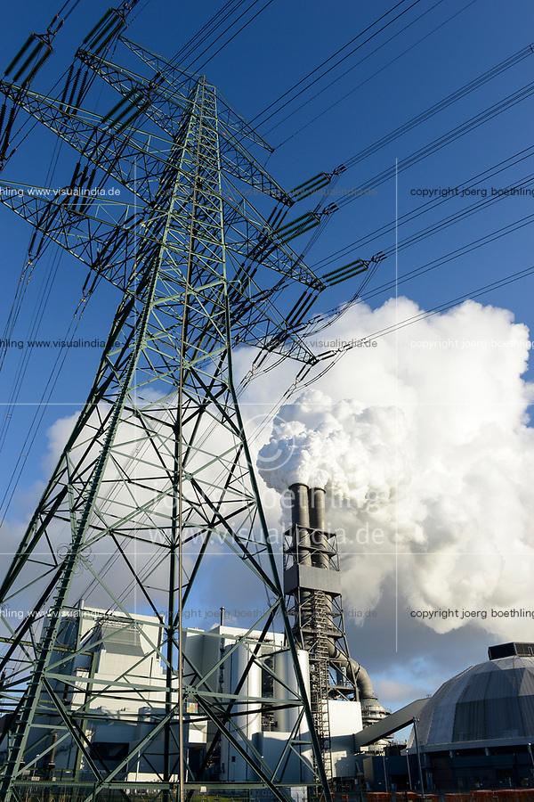 Germany, Hamburg, Vattenfall coal power station Moorburg / DEUTSCHLAND, Hamburg, Vattenfall Kohlekraftwerk Moorburg, Emissionen