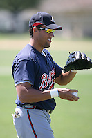 March 21st 2008:  Stephen Shults of the Atlanta Braves minor league system during Spring Training at Tiger Town in Lakeland, FL.  Photo by:  Mike Janes/Four Seam Images