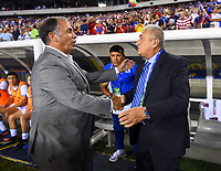Philadelphia, PA - Wednesday July 19, 2017: Bruce Arena and Eduardo Lara during a 2017 Gold Cup match between the men's national teams of the United States (USA) and El Salvador (SLV) at Lincoln Financial Field.