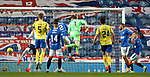 Rangers v St Johnstone…25.04.21   Ibrox.  Scottish Cup<br />Zander Clark heads the ball which was deflected in by Chris Kane for a late equaliser forcing a penalty shoot out.<br />Picture by Graeme Hart.<br />Copyright Perthshire Picture Agency<br />Tel: 01738 623350  Mobile: 07990 594431