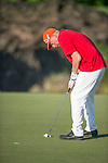 Boris Becker plays during the World Celebrity Pro-Am 2016 Mission Hills China Golf Tournament on 22 October 2016, in Haikou, China. Photo by Marcio Machado / Power Sport Images