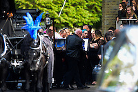 "Pictured: The funeral of Nyah James at Swansea Crematorium, Wales, UK. Thursday 02 March 2017<br /> Re: The funeral of 14-year-old Nyah James who was discovered dead in bed by her mother, took place at Swansea Crematorium.<br /> Nyah James was found at her home in Blaenymaes, Swansea, by her mum when she tried to wake her for school.<br /> Dominique Williams said her ""beautiful daughter"" took an overdose of prescription tablets after being bullied on Snapchat and Facebook.<br /> The 45-year-old said she wants justice for her little girl as she claims the bullies need to ""pay for what they've done""."
