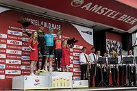 Podium:<br /> <br /> 1st place: Michael Valgren Andersen (DEN/Astana)<br /> 2nd place: Roman Kreuziger (CZE/Mitchelton Scott)<br /> 3th place: Enrico Gasparotto (ITA/Bahrain Merida)<br /> <br /> <br /> 53th Amstel Gold Race (1.UWT)<br /> 1 Day Race: Maastricht > Berg en Terblijt (263km)