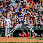 22 June 2019: Toronto Blue Jays starting pitcher Derek Law on the mound in the first inning against the Boston Red Sox at Fenway :Park in Boston, MA. The Blue Jays rallied to defeat the Red Sox 8-7 in the 2nd game of their 3-game series. Mandatory Credit: Ed Wolfstein Photo *** RAW (NEF) Image File Available ***