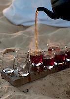 Tea served in the Sahara Desert near the Siwa Oasis, Egypt